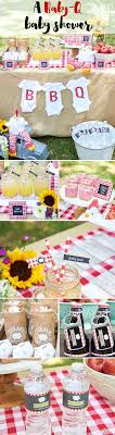 Celebrate the arrival of the new baby with a Baby-Q baby shower. Featuring  red gingham print BBQ themed favors and decor, your guests will love this  ...