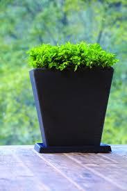 crescent garden planters. Crescent Garden. Universal Square Planter Saucers. 72 Reviews. Caviar Black Saucer In Use Garden Planters
