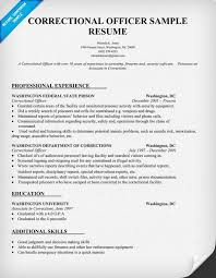 Jail Officer Sample Resume