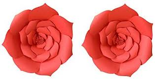 Red Paper Flower Lg Free 12 Inch 2pcs Red Party Paper Flower Backdrop Diy