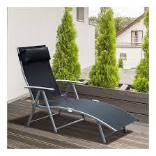 Amazon com chaise lounge chair folding pool beach adjustable patio furniture recliner black garden outdoor