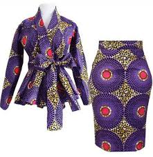 African Skirts Patterns Fascinating African Ankara Print Pencil Fitted Skirt Long Sleeves Peplum Top Outfit