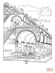 Hanging Gardens Of Babylon Super Coloring