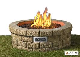 propane fire pit kit natural gas burner pits home depot