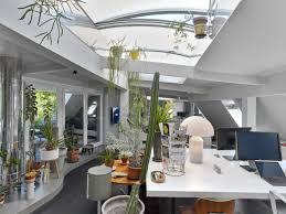 eclectic design home office. Eclectic Home Office. Office Features Skylights And Plenty Of Plants | Nonagon.style Design