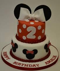 2 Tier Minnie Mouse Cake Girls Birthday Cakes Celebration Cakes
