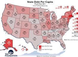 State Debt Chart Monday Map State Debt Per Capita Tax Foundation