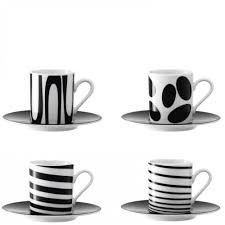 lsa black jazz espresso coffee cups  saucers at blackbydesigncouk