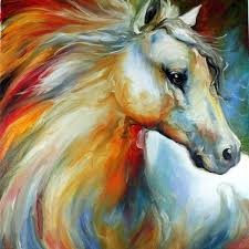 abstract horse paintings experienced professional painter pure handmade high quality art prints images beautiful
