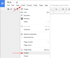 mla format google docs mla format iii how to create a header in google docs