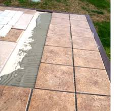 tile outdoor table. Build An Outdoor Table And Benches Tile D
