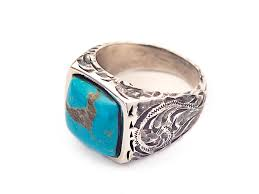 end turquoise and sterling silver ring