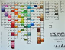Color Blending Chart Copic Chart 2019 Copic Marker Chart 2019 Blank Copic Color