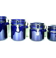 blue glass kitchen canisters large size of cobalt canister set vintage