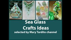 sea glass crafts ideas beach style decor summer decorating ideas