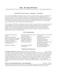 Sample Ministry Resume Church Resume Examples Resume Templates