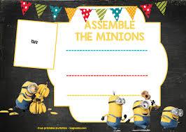 Birthday Invitation Templates Free Download Download Minion Birthday Invitation Template Free Download