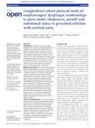 Cerebral Palsy Growth Chart Gmfcs Longitudinal Cohort Protocol Study Of Oropharyngeal