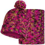 Комплект вязаный шапка-<b>шарф Buff Knitted Polar</b> Livy Magenta