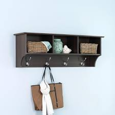 black wood coat rack furniture modern and simple wall with shelf nu  decoration inspiring home interior