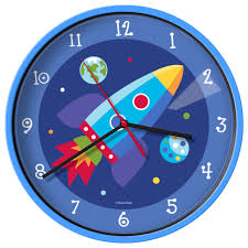 olive kids wall clock out of this world