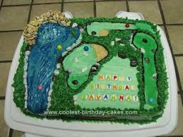 Coolest Miniature Golf Birthday Cake