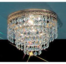 charming flush mount crystal chandelier mini style 1 light co uk