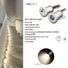 9pcs 1w ip65 mini led ceiling lamp