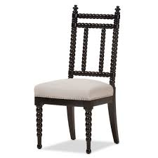 Black Wood Dining Chairs Baxton Studio Heather Modern And Contemporary Beige Fabric
