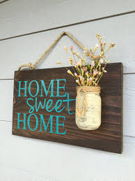 Small Picture Rustic Outdoor Teal Home Sweet Home Wood Signs Front Door Sign