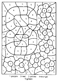 Small Picture for adults free free printable color by number coloring pages