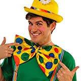 Amscan Goofy & Fun Costume Party Clown Bow Tie, Multicolor, ...