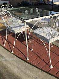 1960 39 s lyon shaw wrought iron patio