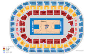 Oklahoma City Thunder Arena Seating Chart Chesapeake Energy Arena Oklahoma City Tickets Schedule