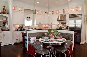 Retro Kitchen Flooring Kitchen Amazing Retro Kitchen Ideas With Nice White Cabinetry