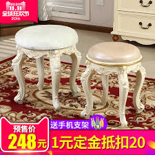 get ations lang lang border european round fabric makeup stool vanity benches minimalist style white dresser dressing table