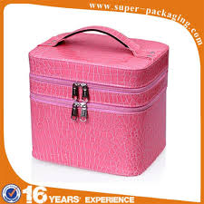 makeup case  New product professional PU makeup case with lighted mirror  and compartments ...