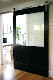 fancy barn door with glass sliding black barn door with glass panel glasscraft barn door hardware