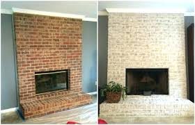 replace brick fireplace cost refacing brick fireplace with stacked stone