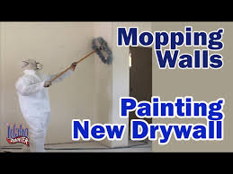 mopping walls before priming painting