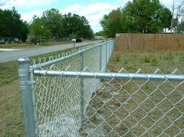 chain link fence post. Diy Chain Link Fence Residential Ow To Install A Post .