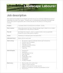 10 Landscaping Job Description Templates Pdf Doc Free