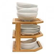 bamboo three tier floating shelves by lipper international
