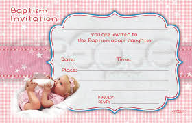 baby girl invite baby girl baptism invitation english
