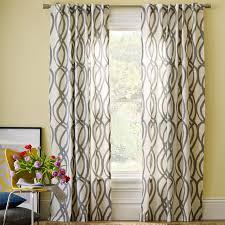 Cotton Canvas Scribble Lattice Curtains (Set of 2) - Feather Gray | west elm