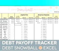 Credit Card Tracker Excel Snowball Payment Calculator Excel Credit Card Debt Payoff