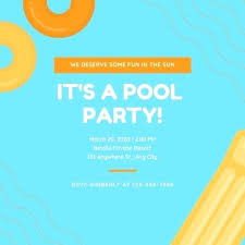 Pool Party Invites Free Printable Kids From Cards Funny