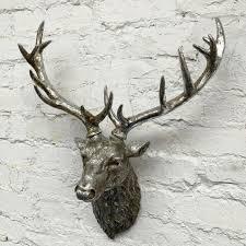 libra aluminium deer head antlers wall