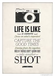 Life Is Like A Camera Vintage Sign Inspirational Quote Poster