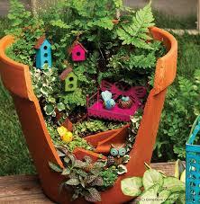 fariy garden. Creative Use Of Broken Pot Fariy Garden